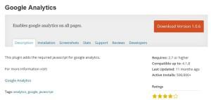 Google Analytics плагин