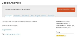 Google Analytics плагин