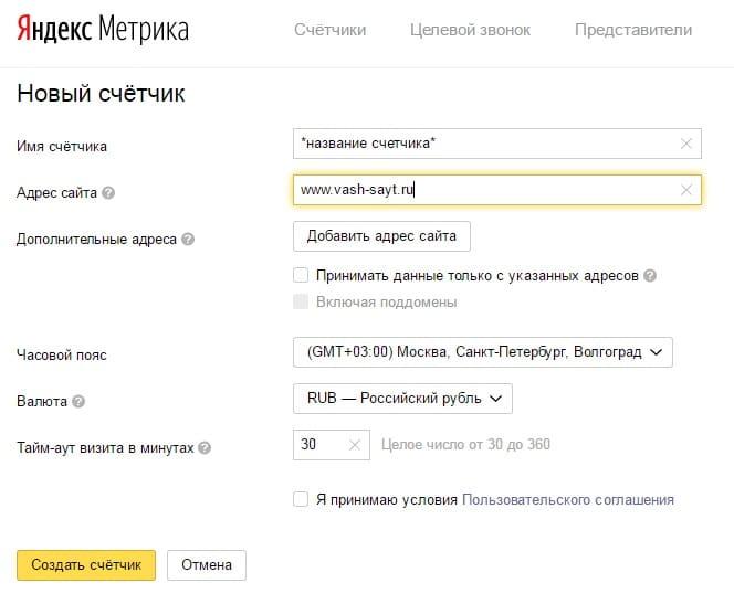 счетчик Яндекс Метрики